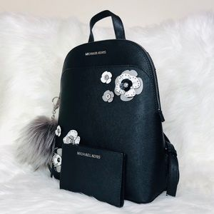 e3bc5a096640 Michael Kors Bags - 3PCS Michael Kors Emmy Floral Backpack Wallet Set